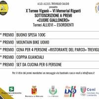 TORNEO VIGANÒ - MEMORIAL RIGANTI: I NUMERI VINCENTI DELLA SOTTOSCRIZIONE