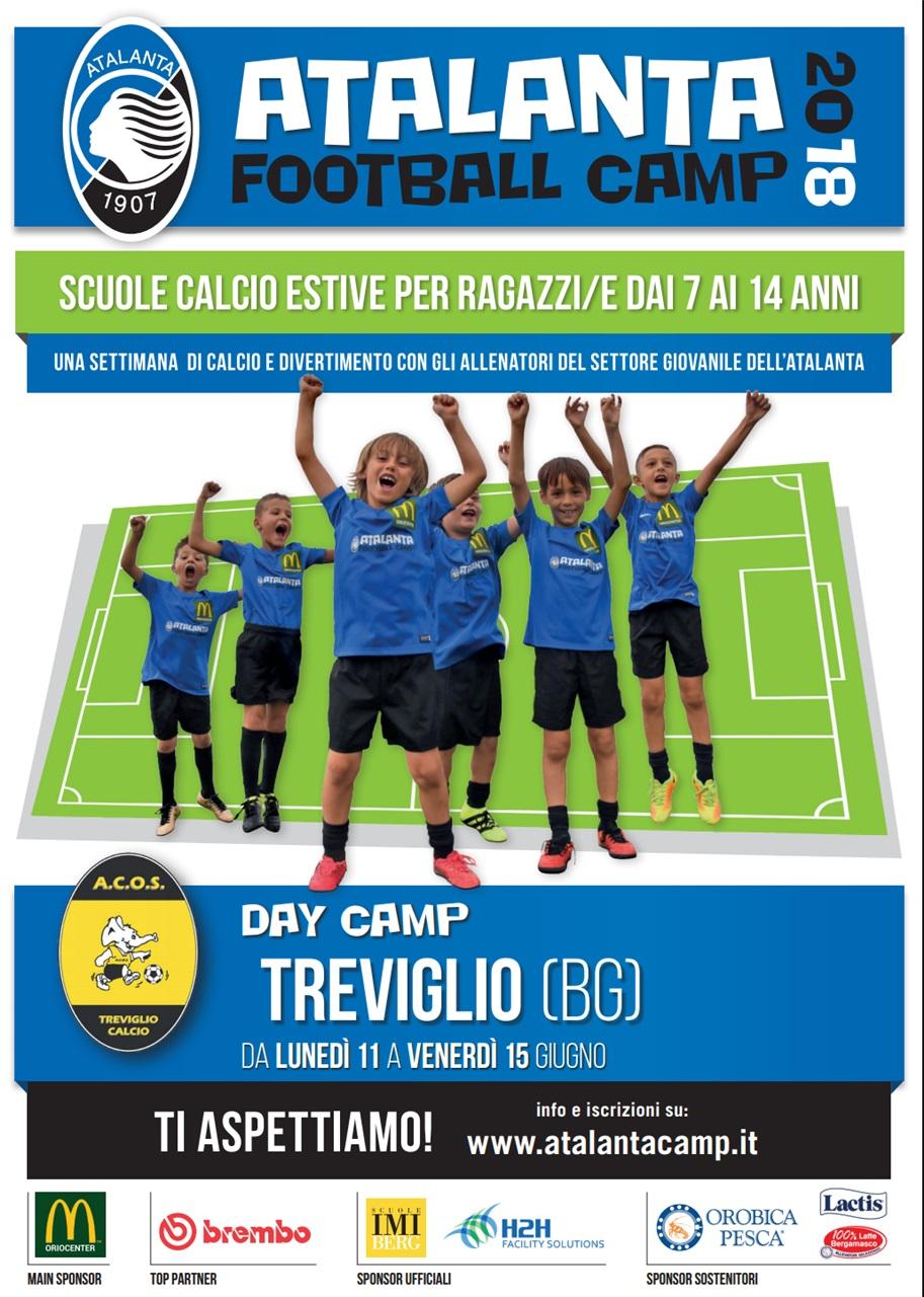ATALANTA CAMP: A TREVIGLIO DALL'11 AL 16 GIUGNO