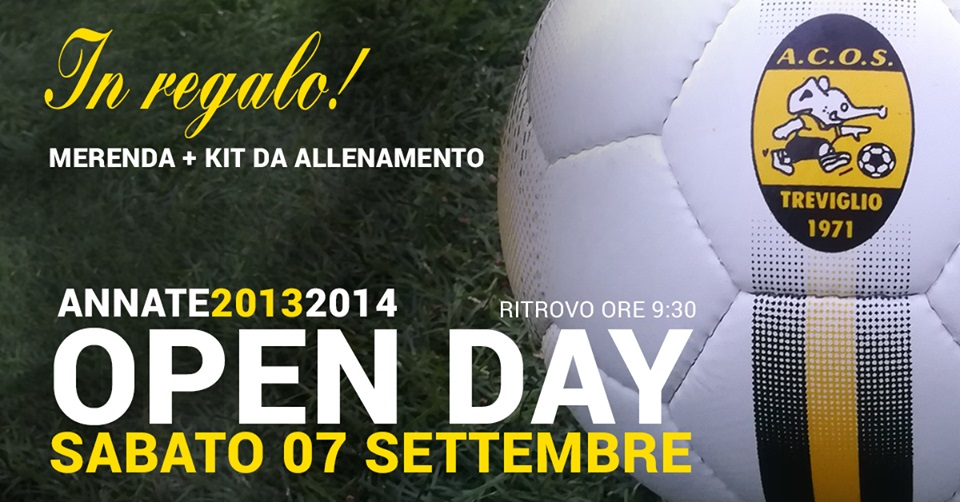 OPEN DAY SABATO 7 SETTEMBRE