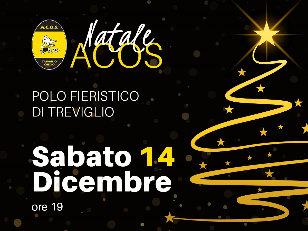 SAVE THE DATE: 14 DICEMBRE NATALE ACOS!